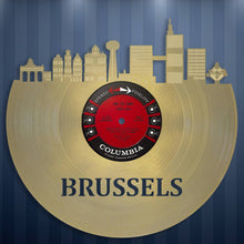 Brussels Skyline Wall Art - VinylShop.US
