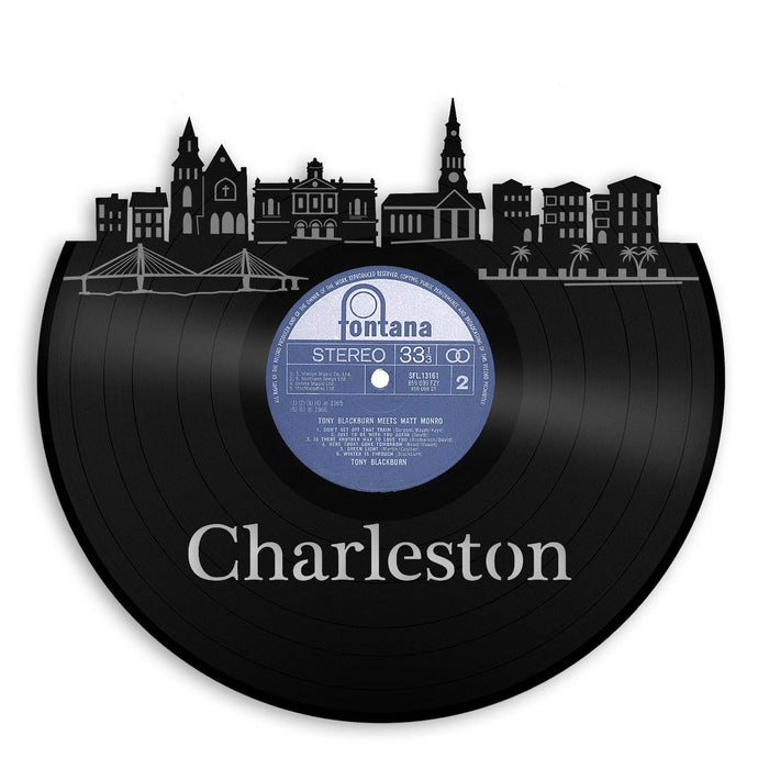 Charleston NC Skyline Wall Art - VinylShop.US