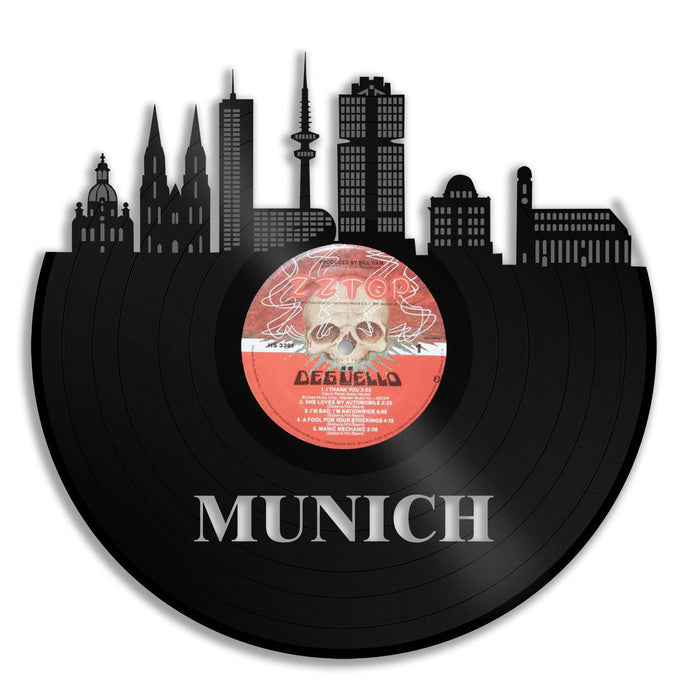 Top Gifts For Dad Birthday, Record Art, Munich Skyline, Munich Germany Art, Best Gift For Coworker Birthday, Boyfriend Birthday Mom Birthday - VinylShop.US