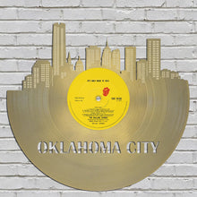 Unique Gift Idea For Bride, For Groomsmen, For Bridesmaids, For Wedding Day, For Couple, Wedding City Skyline Art, Oklahoma City Art - VinylShop.US