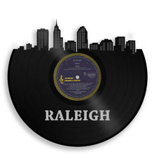 Unique Art For Couple, For Best Friend, For Anniversary, For Mom, For Dad, Creative Wedding Art, Raleigh Skyline Art, North Carolina State - VinylShop.US