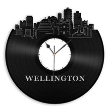 Wellington Skyline Clock New Zealand Wellington Cityscape Old Record Clock Unique Wall Clock Gift For Him Skyline Clock Record Wall Clock - VinylShop.US