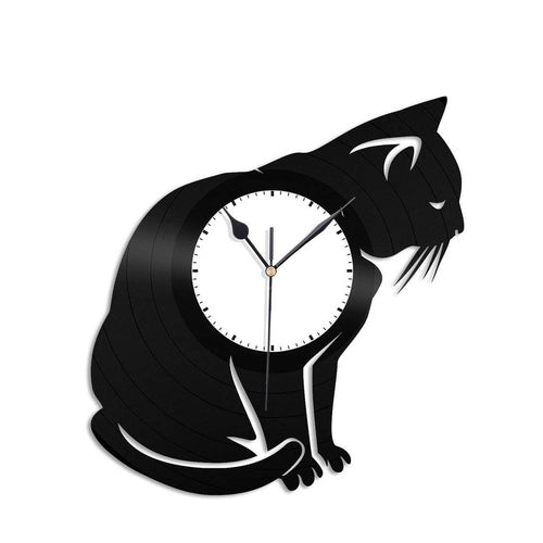 Cat Vinyl Wall Clock - VinylShop.US