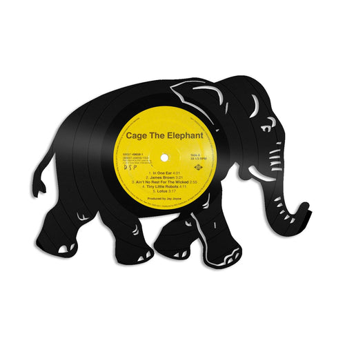 Elephant Wall Art Elephant Home Decor India gift Africa gift Elephant gift Vinyl Record Wall Art Elephant Record Art Gift For Her Elephant - VinylShop.US