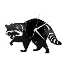 Raccoon Clock Raccoon Gift Record Clock Vinyl Record Clock Animal Clock Animal Home Decor Woodland Gift Raccoon Gift Kid's Room Wall Decor - VinylShop.US
