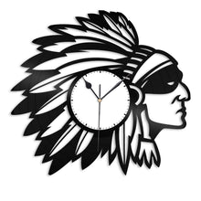 Indian Native Americans Vinyl Wall Clock