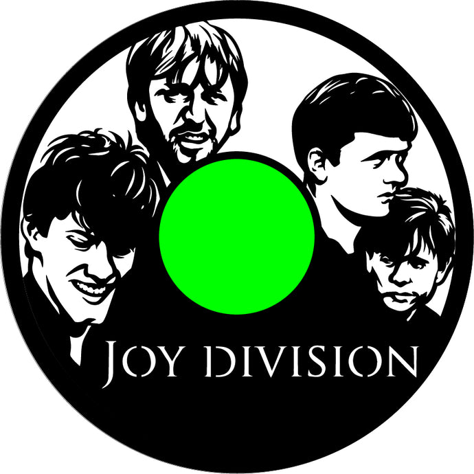 Joy Division Custom Art With Joy Division Label