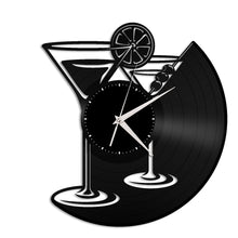Martini Glass Vinyl Wall Clock