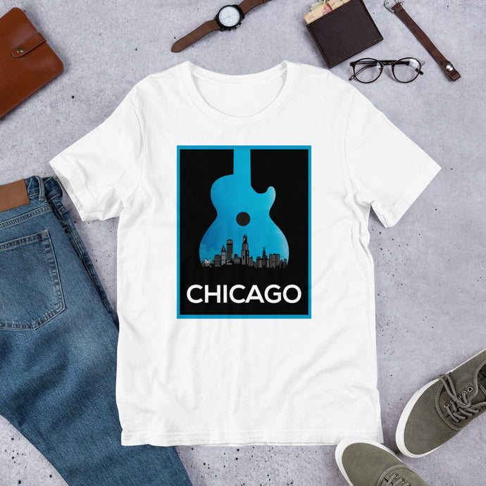 Chicago Guitar Music Short-Sleeve Unisex T-Shirt