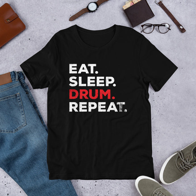 Eat Sleep Drum And Repeat Music Tshirt