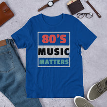 80's Music Matters Music Quote Tshirt