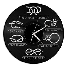 Sea Knots Sailing Art Nautical Knot Vinyl Wall Clock