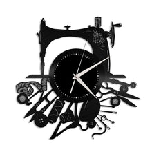 Sewing Vinyl Wall Clock - VinylShop.US