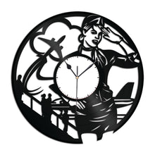 Stewardess Vinyl Wall Clock