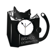 World Domination for Cats Vinyl Wall Clock