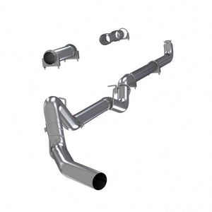 "4"" Down Pipe Back, EC/CC, Off Road - no muffler, Single, T409 S6004SLM"
