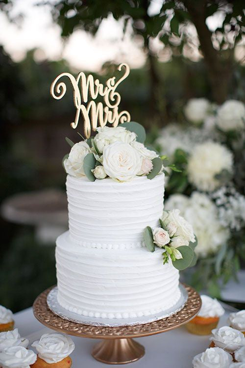 Mr And Mrs Rustic Wedding Cake Topper DIY Deco