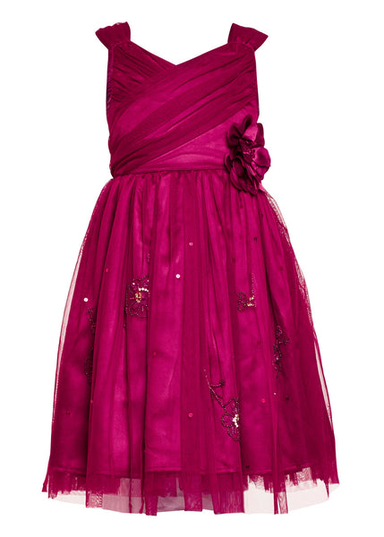 Purple Party Dress - The Cranberry Club - kids clothing - Party Dresses Younger