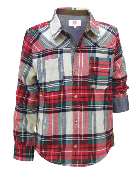 Boys Red Check Shirt - The Cranberry Club - kids clothing - Boys Shirt