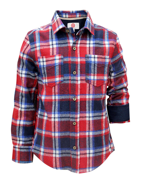 Brushed Check Shirt - The Cranberry Club - kids clothing - Boys Shirt