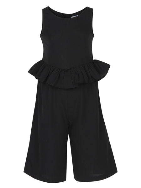 Black Casual Jumpsuit - The Cranberry Club - kids clothing - Casual Jumpsuit