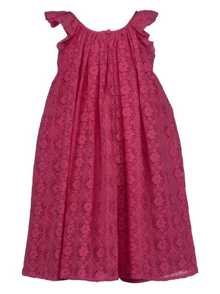 Pink Lace Dress - The Cranberry Club - kids clothing - Casual Dress