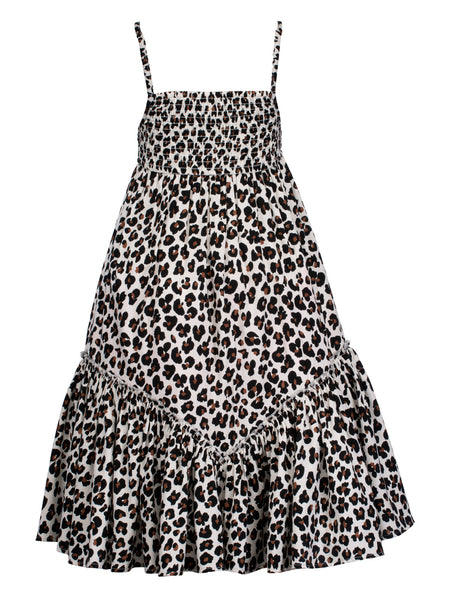 Leopard Maxi Dress - The Cranberry Club - kids clothing - Casual Dress