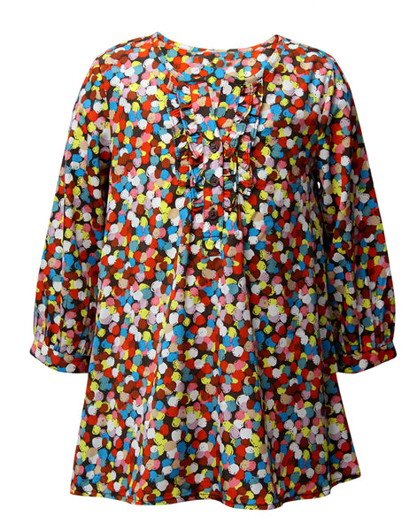 Multicoloured  Print Casual Dress - The Cranberry Club - kids clothing - Casual Dresses