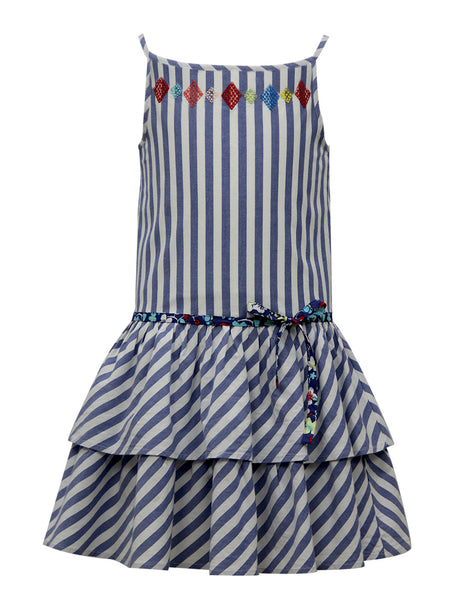 White Stripe Casual Dress - The Cranberry Club - kids clothing - Casual Dresses