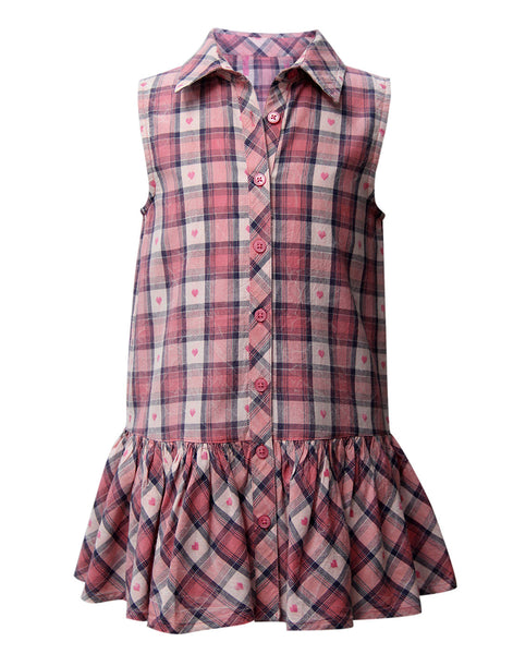 Pink Check Casual Dress - The Cranberry Club - kids clothing - Casual Dresses