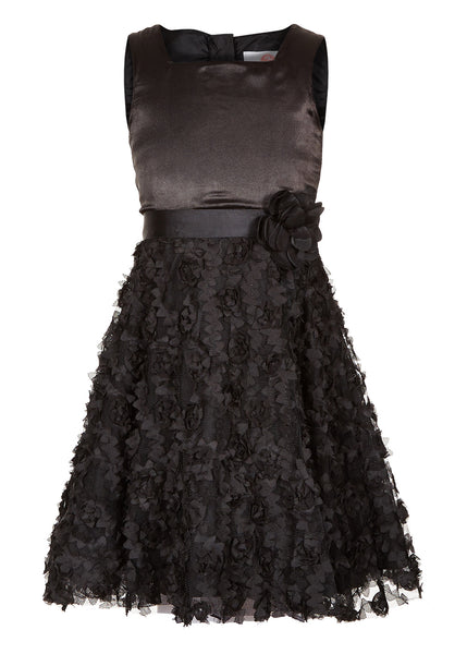 Black Party Dress - The Cranberry Club - kids clothing - Party Dresses Younger