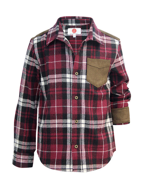 Red Check Shirt - The Cranberry Club - kids clothing - Boys Shirt