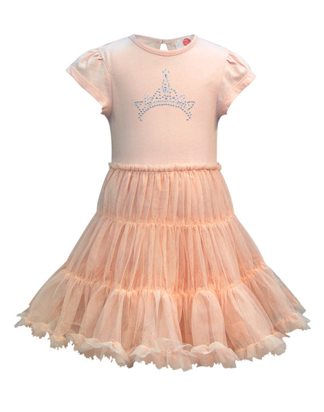 1410aab627d ... Cranberry Club - kids clothing - Party Dresses Younger · Peach Party  Dress