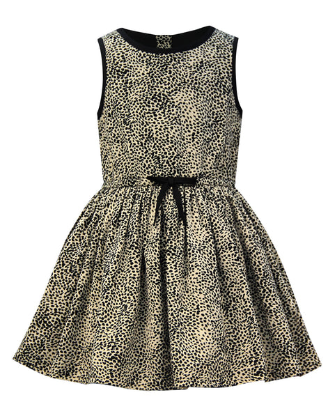 Leopard Print Classic Dress - The Cranberry Club - kids clothing - Cranberry Classics Younger