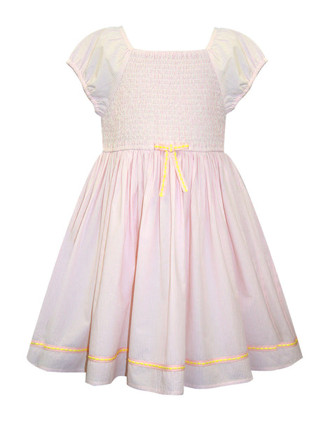 Pink Smoked Casual Dress - The Cranberry Club - kids clothing - Casual Dresses