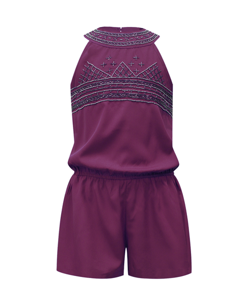 Purple Playsuit - The Cranberry Club - kids clothing - Jumpsuits & Playsuits Older