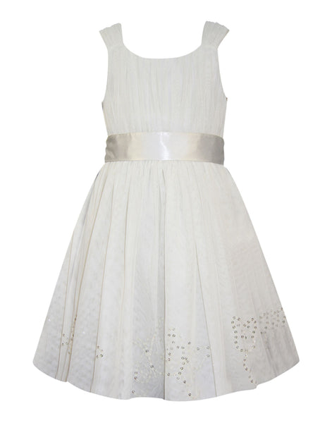 White Party Dress - The Cranberry Club - kids clothing - Party Dresses Younger