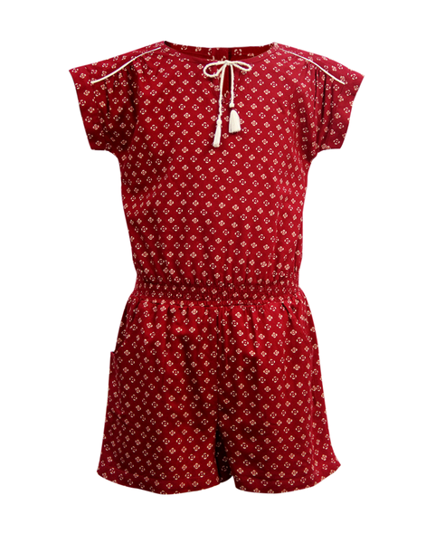 9fb7e9a4aa3 ... Cranberry Club - kids clothing - Jumpsuits   Playsuits Older. Maroon  Playsuit