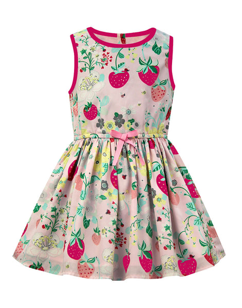 Strawberry Dress - The Cranberry Club - kids clothing - Cranberry Classics Younger