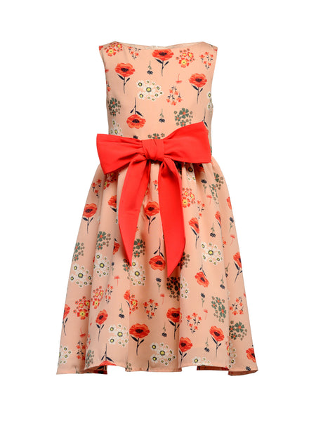 Bella Bow Dress - The Cranberry Club - kids clothing - Cranberry Classics Younger