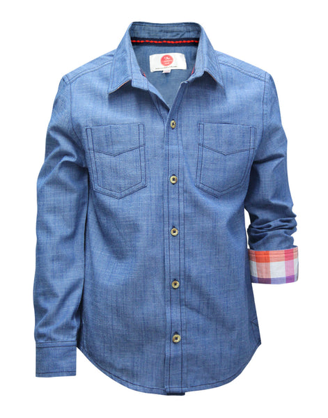 Blue Boys Shirt - The Cranberry Club - kids clothing - Boys Shirt