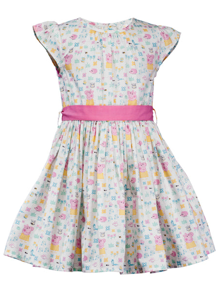 Baby Peppa Dress - The Cranberry Club - kids clothing - Casual Dress