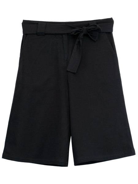 Black Cotton Culottes - The Cranberry Club - kids clothing - Casual Culottes