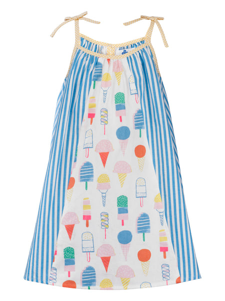 Ice Cream Panel Dress - The Cranberry Club - kids clothing - Casual Dress