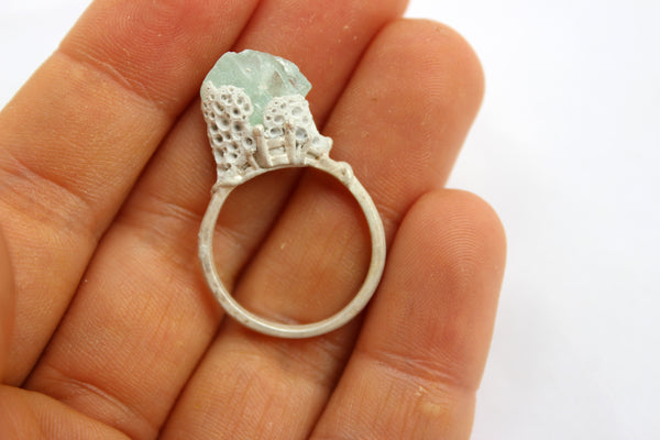 Light Blue Quartz Ring