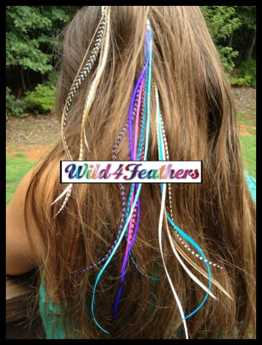 Feather Hair Extensions Colour Mix Feathers Craftkit Value Pack
