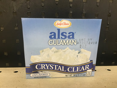 Alsa Gulaman Crystal Clear Unflavored 90g