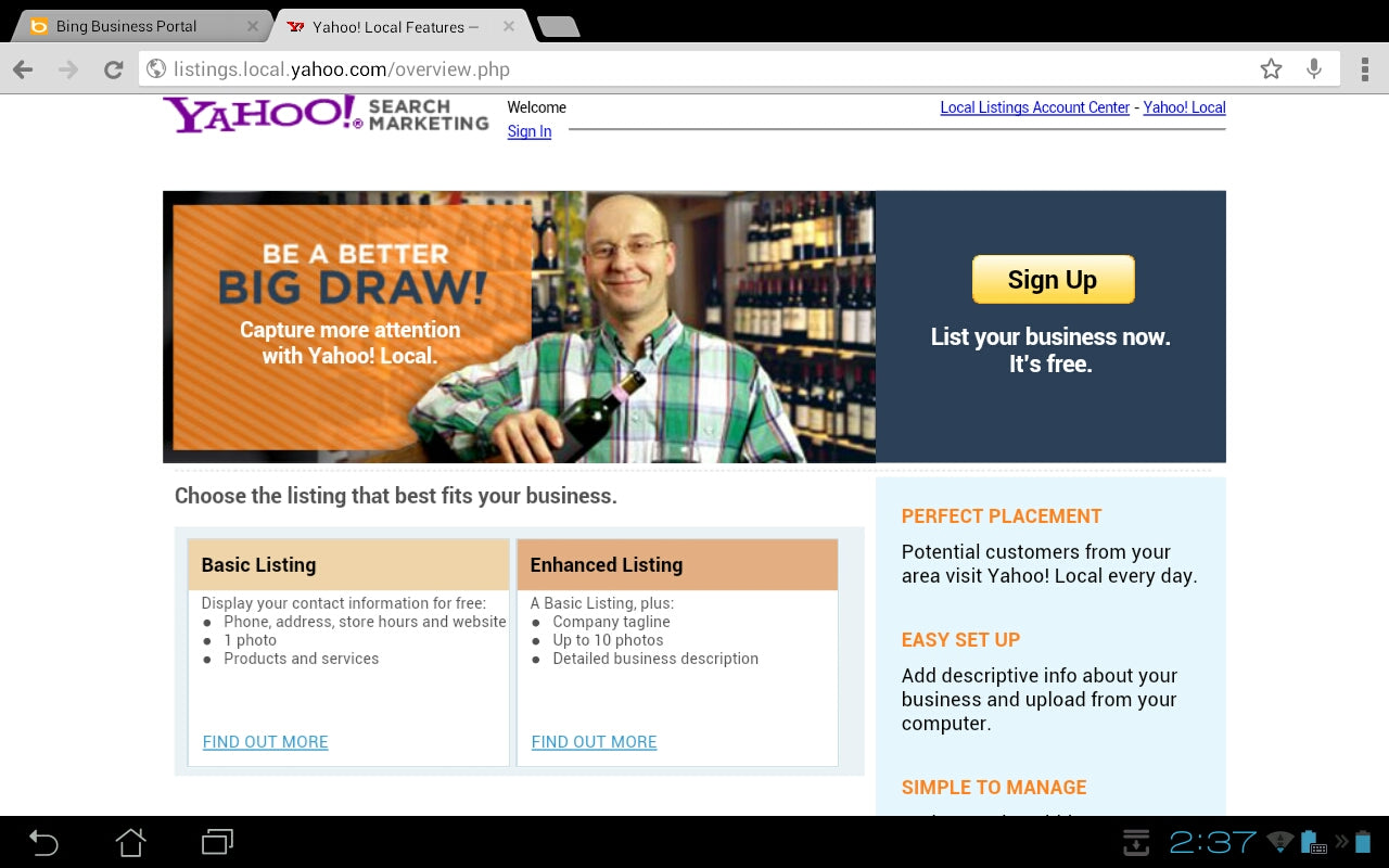 Make your website come up on Yahoo! Search.