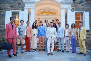 Sergio Davila and his models featuring his 2016 collection