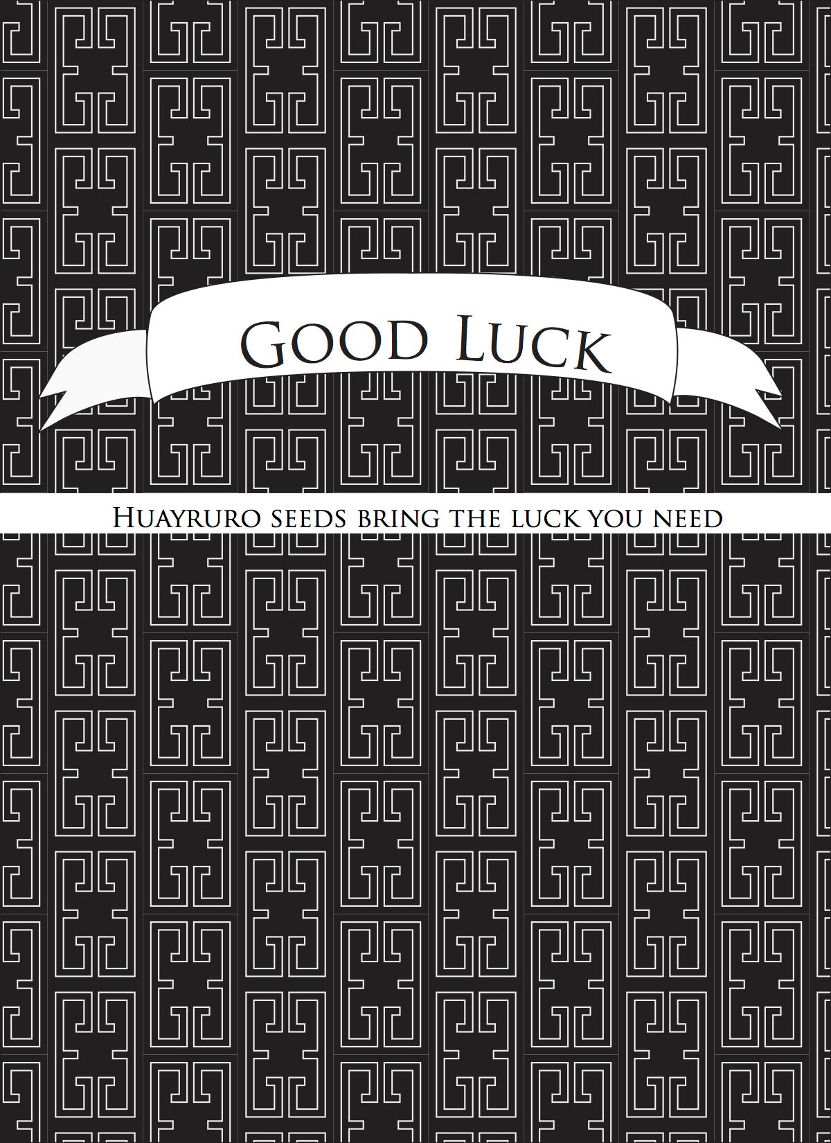 Front of our Good Luck product card
